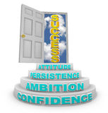 Steps Rising to Success - Open Door Royalty Free Stock Images