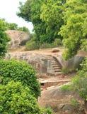 Steps on rocks landscape Royalty Free Stock Photo