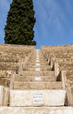 Steps and Row Numbers in Pompeii Theater Royalty Free Stock Photos