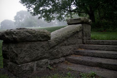 Steps at Ruins of Mansion Near Bar Harbor Maine Royalty Free Stock Images
