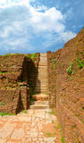 Steps and the ruins on Sigiriya Stock Image