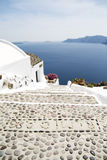 Steps on Santorini island Royalty Free Stock Photos