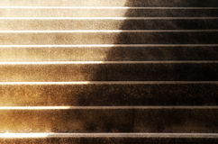 Steps in  shadows and sunlight Royalty Free Stock Image