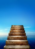 Steps and sky Royalty Free Stock Photos
