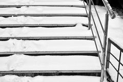Steps In Snow Royalty Free Stock Photography