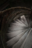 Steps of a spiral staircase. Which go downwards Royalty Free Stock Photography