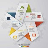 5 steps in star shape infographics design. Vector. template. Royalty Free Stock Photos