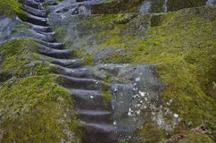 Steps in the stone Royalty Free Stock Photography