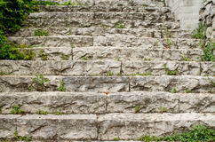 The steps of stone stairway. Royalty Free Stock Image
