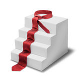 Steps of success. Red necktie forms steps of success, isolated on white royalty free illustration