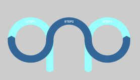 Steps template. This is blue steps template Stock Image