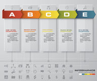 5 steps timeline infographic for business design. EPS10 Stock Photos