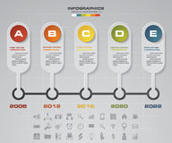 5 steps timeline infographic for business design. EPS10 Royalty Free Stock Photography