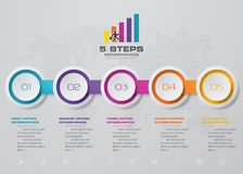 5 steps Timeline infographic element. 5 steps infographic. EPS 10. 5 steps Timeline infographic element. 5 steps infographic, vector banner can be used for royalty free illustration