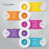 5 steps timeline infographic element. EPS 10. 5 steps timeline infographic element. 5 steps infographic, vector banner can be used for workflow layout, diagram vector illustration