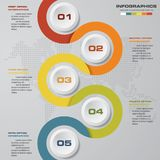 5 steps Timeline infographic element. 5 steps infographic. 5 steps Timeline infographic element. 5 steps infographic, vector banner can be used for workflow Royalty Free Illustration