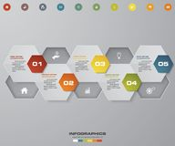 5 steps Timeline infographic element. 5 steps infographic,. Vector banner can be used for workflow layout, diagram,presentation, education or any number option Stock Illustration