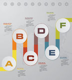 6 steps Timeline infographic element. 6 steps infographic,. Vector banner can be used for workflow layout, diagram,presentation, education or any number option Royalty Free Illustration