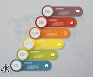 6 steps of timeline Infographic template. for your presentation. EPS 10. For your design and presentation Stock Photo