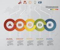 5 steps Timeline Infographic, Vector design template. EPS10 Royalty Free Illustration