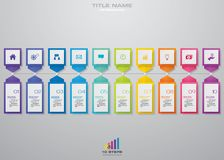 10 steps timeline for your presentation. EPS 10. 10 steps timeline infographic element. 10 steps infographic, vector banner can be used for workflow layout royalty free illustration