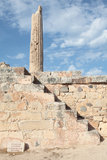 Steps to Apollo column Royalty Free Stock Photography