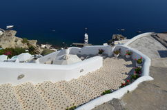 Steps to Armeni Bay Oia Santorini Royalty Free Stock Photo