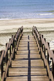 Steps to beach. Steps down to a sandy beach on the mediterranean at Sabaudia, Lazio, Italy Stock Photography