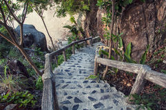 Steps to the beach Royalty Free Stock Image