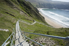 Steps to a beach on the west of Ireland Stock Photography