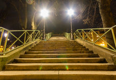 Steps to a Bridge Stock Photography