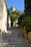 Steps to Capdepera Castle. Steps to the historic castle in Capdepera Royalty Free Stock Photos