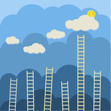 Steps to clouds Royalty Free Stock Image