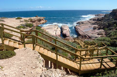 Steps to the coast. Steps down to coast, tourist spot, South Australia Royalty Free Stock Photo