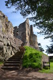 Steps to Dirleton Castle Royalty Free Stock Image