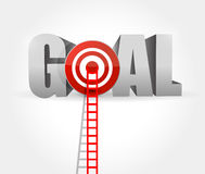 steps to goal success. ladder to your goal Stock Photo