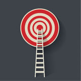 Steps to goal. Steps to the target. Concept of success. Vector flat illustration Royalty Free Stock Image