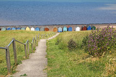 Steps to herne bay sea front Royalty Free Stock Images