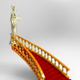 Steps  to justice Royalty Free Stock Photo
