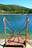 Steps to a lake. Front of some steps to a lake Royalty Free Stock Photo