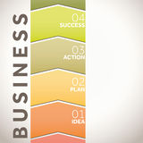 Steps to lead your business. Management steps for successful business ventures Royalty Free Stock Photos