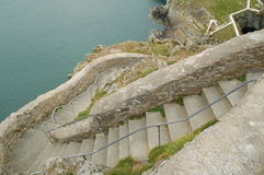 Steps to lighthouse. Meandering steps down to south stack lighthouse Stock Images