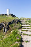 Steps to Lighthouse on Llanddwyn Island Royalty Free Stock Photography