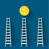 Steps to money Stock Photos