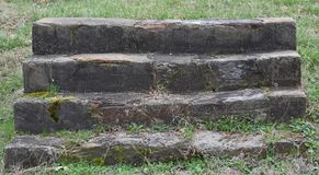 Steps to old house from 1700`s Royalty Free Stock Photo