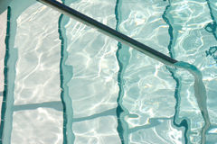 Steps to pool. Swimming stock photo