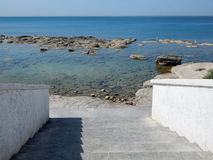 Steps to the sea. Stock Photo