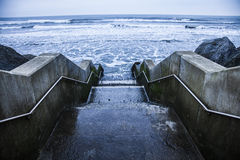 Steps to the sea Stock Image