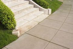 Steps to Sidewalk Stock Photo