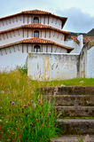 Steps to the Sky. An historic building in Guatavita, Colombia with its steps and tiles leading up to the sky Royalty Free Stock Photos